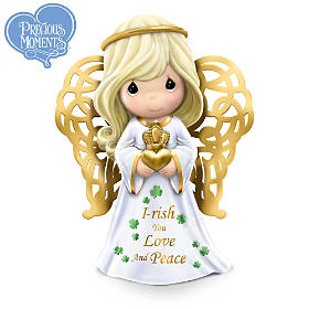 Precious Moments I-rish You Love And Peace Figurine