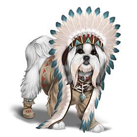 Chief Barks A Lot Shih Tzu Figurine