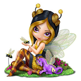 Bumblebee Dragonling Figurine