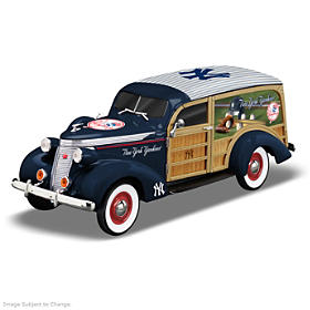Cruising To Victory Yankees Woody Wagon Sculpture