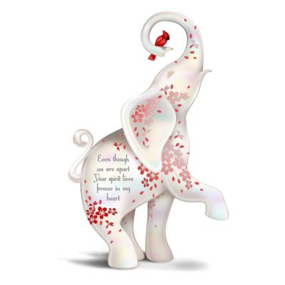 Blake Jensen Forever In My Heart Hand Painted Elephant Figurine Kids music with an edge! blake jensen cardinal and elephant remembrance figurine