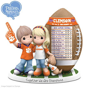 Together We Are Champions Clemson Tigers Figurine
