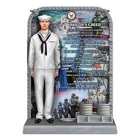 U.S. Navy The Sailor's Creed Sculpture