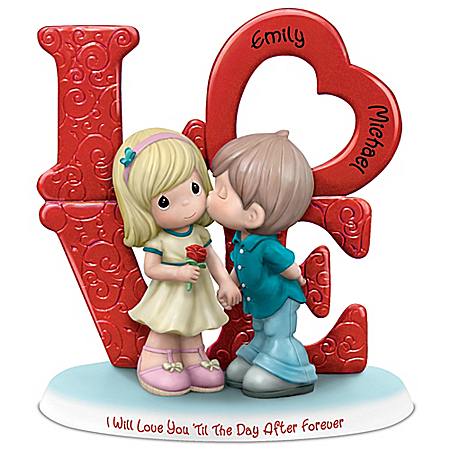 Image Precious Moments Romantic Personalized Couple Figurine with Your 2 Names