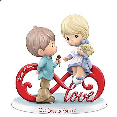 Image Precious Moments Romantic Personalized Couple Infinity Figurine with Your Names