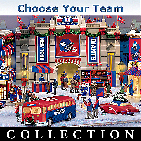 Photo of Collectible NFL Football Christmas Village Collection: NFL Memorabilia by The Bradford Exchange Online