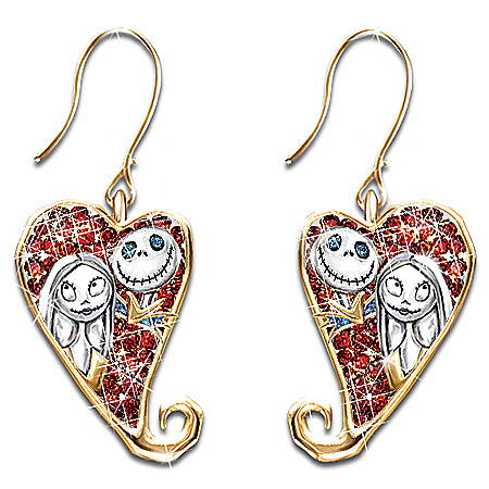 Photo of Tim Burton's Nightmare Before Christmas Earrings by The Bradford Exchange Online