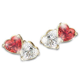 Two Hearts, One Love Earrings