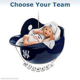 Major League Baseball Personalized Baby's Christmas Ornament