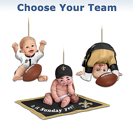 Photo of NFL Baby Ornament Collection: Born To Be An NFL Fan by The Bradford Exchange Online