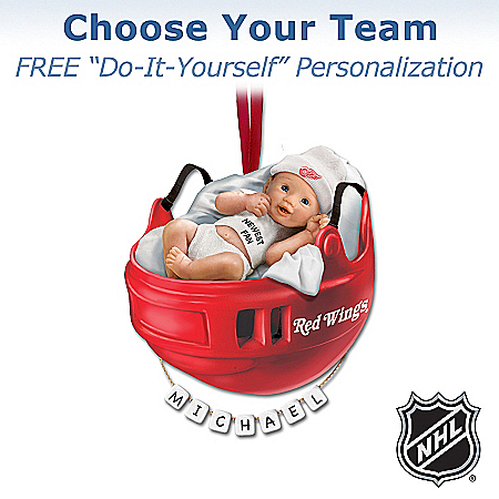 Photo of NHL® Baby's First Ornament by The Bradford Exchange Online
