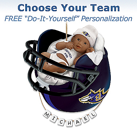 Photo of NFL Personalized Baby's First Ornament by The Bradford Exchange Online