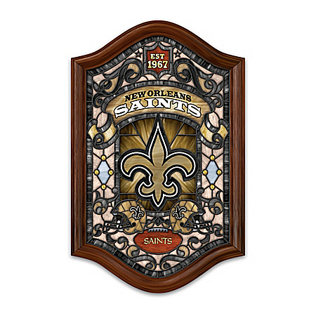 Photo of NFL Illuminated Stained-Glass Wall Decor: Choose Your Favorite Football Team by The Bradford Exchange Online