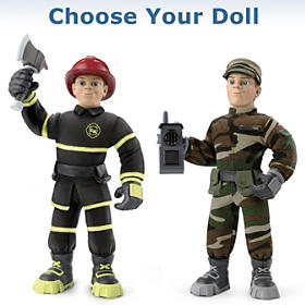 Everyday Heroes Military Max And Fireman Finn Plush Figures