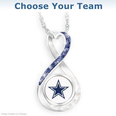 3064c83b9d5f4 NFL Swarovski Crystal Pendant Necklace: Choose Your Team