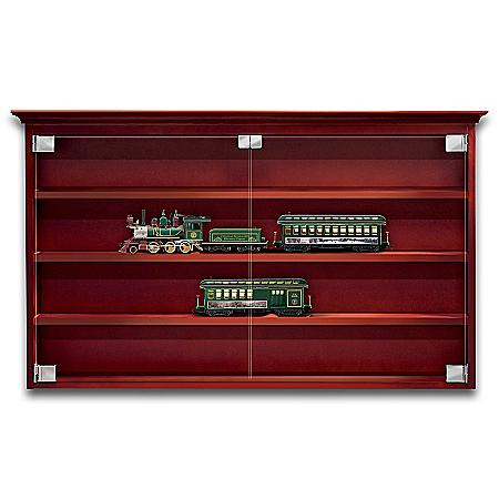 Photo of Bridgeport Train Display Wood Cabinet by The Bradford Exchange Online