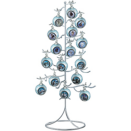 Photo of Silver Wire Ornament Tree Display by The Bradford Exchange Online