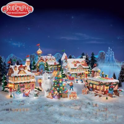 rudolph the red nosed reindeer village set - Rudolph Christmas Decorations