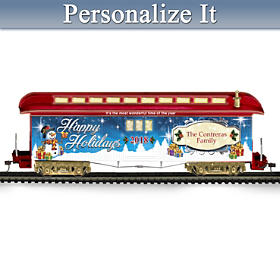 2018 Personalized Holiday Train Car