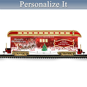 2019 Personalized Holiday Train Car