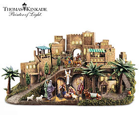Thomas Kinkade O Little Town Of Bethlehem Nativity Sculpture