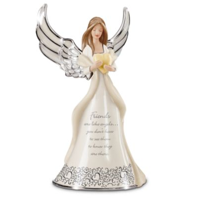 Friends Are Like Angels Porcelain Figurine by