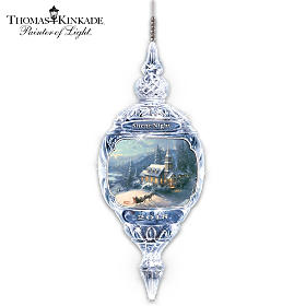 Thomas Kinkade Silent Night Crystal Ornament