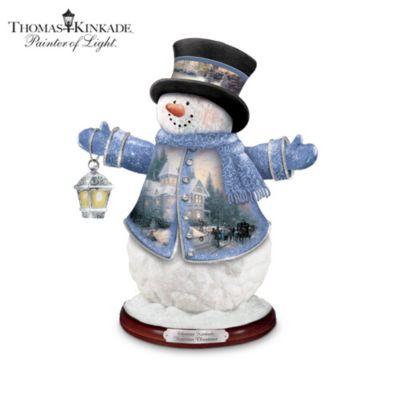 The Thomas Kinkade Victorian Christmas Snowman by