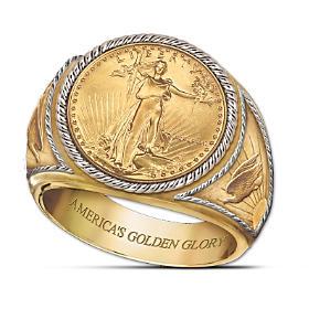 Saint-Gaudens Golden Proof Ring