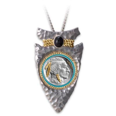 Indian Head Nickel Arrowhead Men's Pendant Necklace by