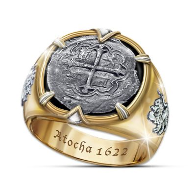 Atocha Men's Ring Crafted From 17th Century Coin Silver by