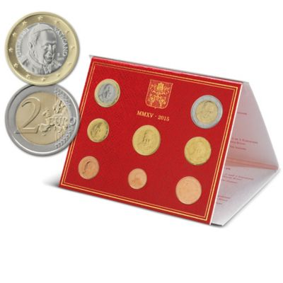 The Official 2015 Vatican Coin Set With Presentation Box by