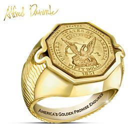 $50 California Gold Rush Coin Ring