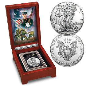 The USMC 2016 American Silver Eagle Coin