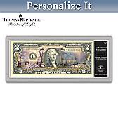 Thomas Kinkade Christmas $2 Bill Currency
