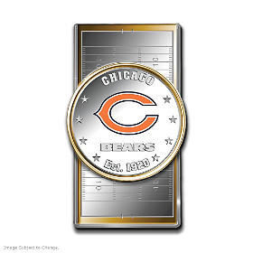 Official Chicago Bears Silver Dollar Money Clip