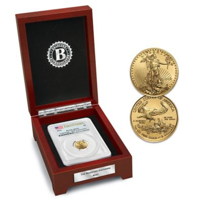 First Strike 2016 $5 American Gold Eagle Coin with Display by