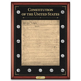 The U.S. Constitution Commemorative Tribute Wall Decor