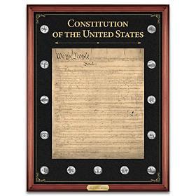 The U.S. Constitution Commemorative Tribute Wall Decor