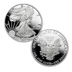 2017 First Strike Proof American Eagle Silver Dollar Coin