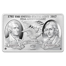 The 225 Years Of American Coinage Silver Tribute Minted Bar