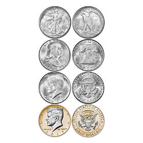 JFK 100th Anniversary Silver Half Dollar Coin Set