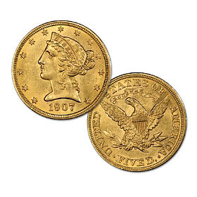 $5 Liberty Gold Half Eagle MS-61 NGC Coin