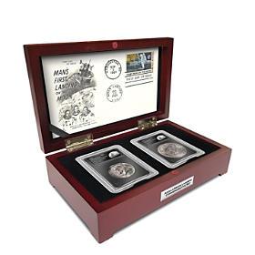 The 50th Anniversary Apollo Moon Landing Artifact & Coin Set