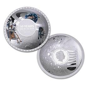 The Apollo 11 50th Anniversary Moon Landing Silver Coin