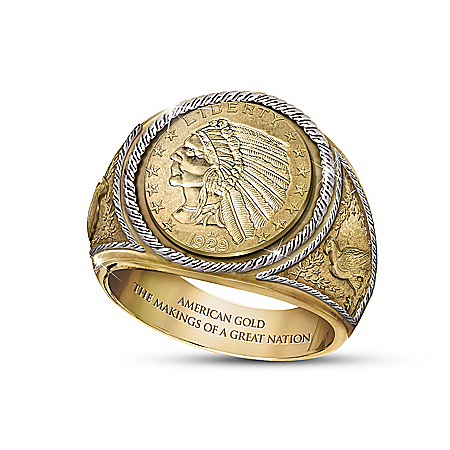 Photo of 1929 $5 Indian Head Proof Ring by The Bradford Exchange Online