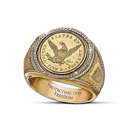 Photo of The 1839 $5 Eagle Proof Men's Ring by The Bradford Exchange Online
