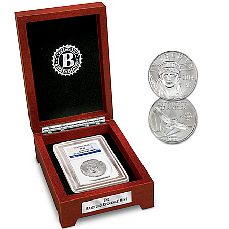 The MS-70 Grade 2014 $100 Platinum Eagle Coin With Display Box