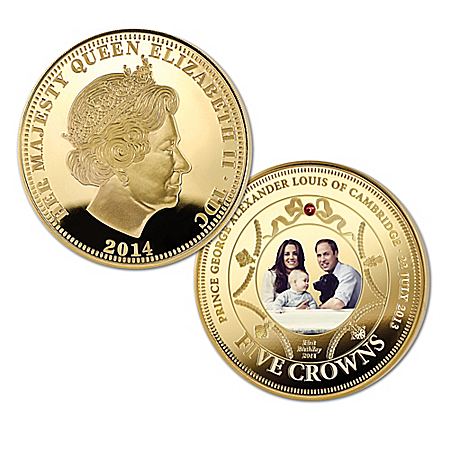 The New Royal Prince Limited-Edition Gold Five Crown Coin