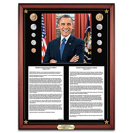 The President Barack Obama Inaugural & Farewell Addresses Wall Decor